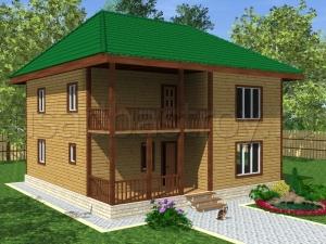 Каркасные дома 10х10 ДП34