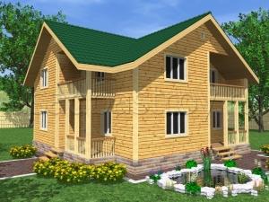 Каркасные дома 10х10,5 ДП35