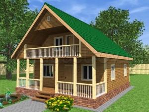 Каркасные дома 10х8 ДП5