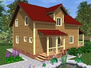 Каркасные дома 12х8 ДП36