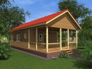 Каркасные дома 6х13 ДП54