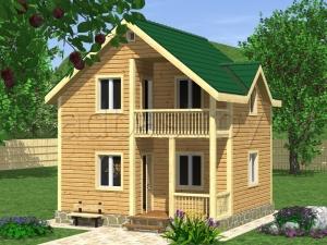 Дома из бруса 6х6 ДП19