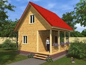 Каркасные дома 6х6 ДП48