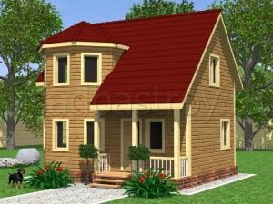 Дома из бруса 6х7 ДП22