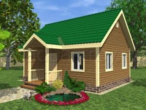 Каркасные дома 6х8 ДП1