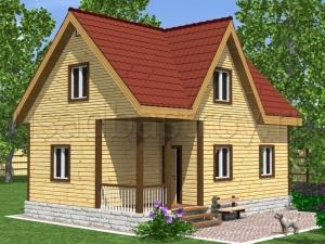 Дома из бруса 6х9 ДП12