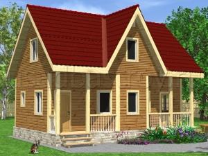Каркасные дома 6х9 ДП4