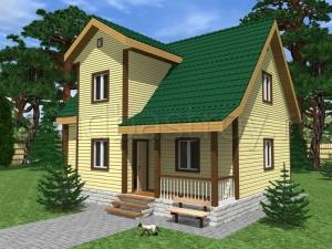 Каркасные дома 7.5х10 ДП3