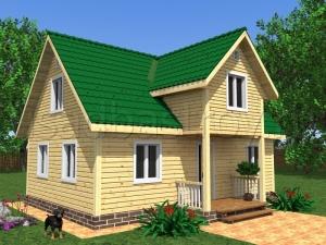 Каркасные дома 7.5х9 ДП7