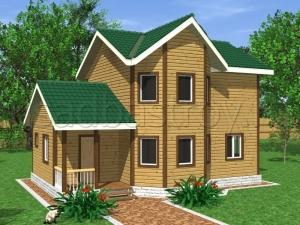 Каркасные дома 7х10 ДП33