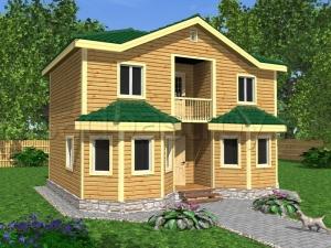 Каркасные дома 7х9 ДП17