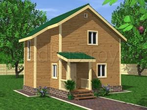Каркасные дома 8,5х8 ДП27