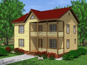 Каркасные дома 8х10,5 ДП24