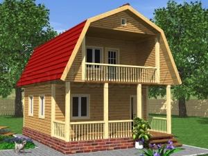 Каркасные дома 8х6 ДП14