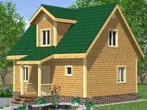 Каркасные дома 8х6 ДП15