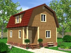 Каркасные дома 8х6 ДП23