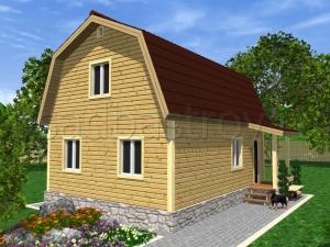Каркасные дома 8х6 ДП25