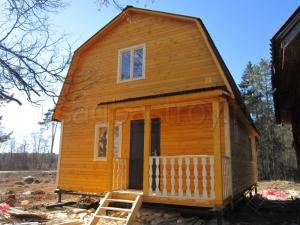 Каркасные дома 8х6 ДП43