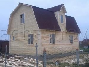 Каркасные дома 8х6 ДП44