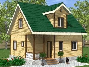 Дома из бруса 8х7 ДП16