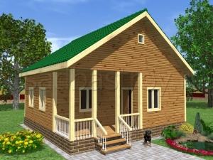 Каркасные дома 8х8 ДП2