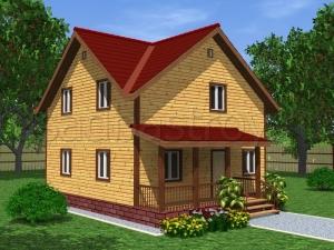 Дома из бруса 8х8 ДП28