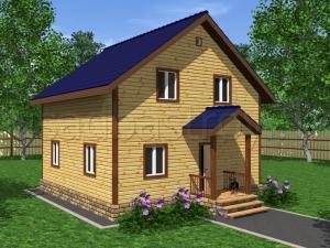 Дома из бруса 8х8 ДП29