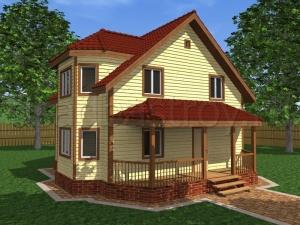 Дома из бруса 8х8 ДП31