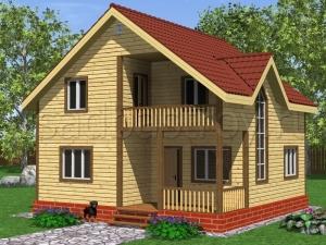 Каркасные дома 8х8 ДП9