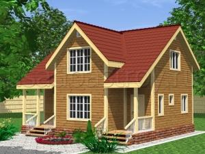 Каркасные дома 8х9 ДП11
