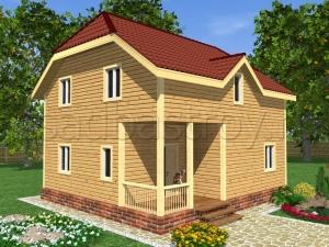 Каркасные дома 8х9 ДП18