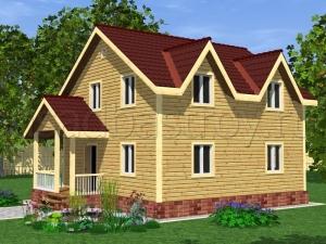 Каркасные дома 9.5х8 ДП20