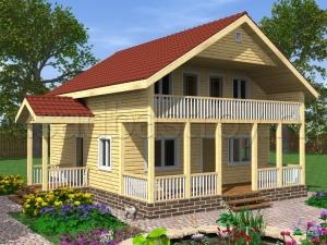 Дома с террасой 9.5х8 ДП8