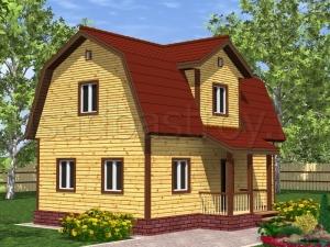 Каркасные дома 9х6 ДП21