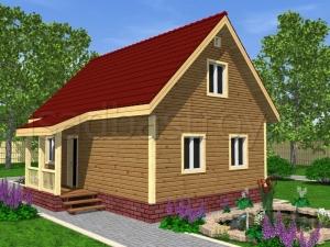 Каркасные дома 9х6 ДП26