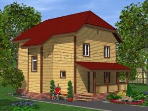 Каркасные дома 9х7 ДП32
