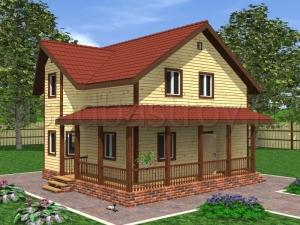 Дома с террасой 9х9 ДП30